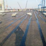 Impermeabilização com sistema manta com asfalto a aquente Obra fibria três lagoas - ms