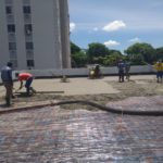 Proteção mecânica sobre a impermeabilização executada